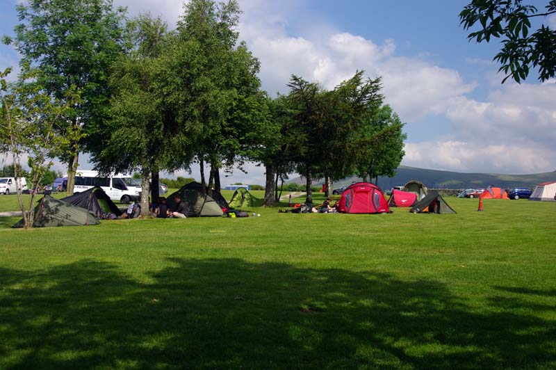 Large camping field
